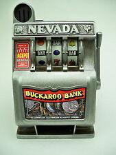 SLOT MACHINE Vintage NEVADA BUCKAROO BANK (works) Metal SLOT Las Vegas