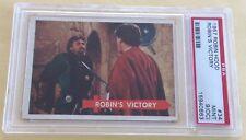 1957 Topps Robin Hood Trading Card #34 Robin's Victory PSA 9 MINT (OC)