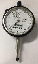 Fowler Bowers 52 548 Dial Indicator 0 500 Range 0005 Black Bezel