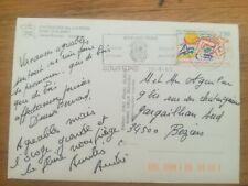 Timbre sur carte JEUX MEDITERRANEENS 1993 cachet SOUSTONS