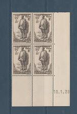 timbre France bloc de 4 coin daté  aux victimes civiles de la guerre num: 420 **