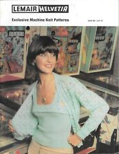 Vintage machine knitting pattern lemair ladies fashion pullover jacket twin set