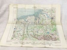 1950 Military Map of Germany Hamburg Bremen Osnabruck Allied Forces RAF Chart
