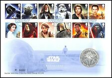 """Great Britain Star Wars """"Characters""""Medal Cover Collectible Set,28.28g CuNi,2015"""