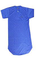Sommmer Herren Nachthemd kurzenarm Nachtwäsche Tolle Farbe Bequem 100% Cotton