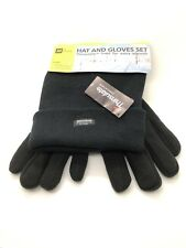 AA Car Essentials Black Ext Thermal Thinsulate Winter Hat and Thermal Gloves Set