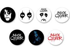 Lot Pack Badge Button Ø25mm Alice Cooper Hard Shock Rock USA