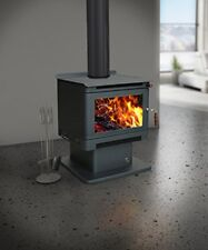 Wood Heater Ecomaxx Premium Pedestal - Metallic Charcoal Fireplace