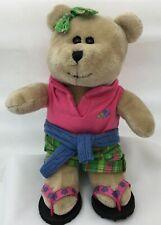 """Starbucks Coffee Girl Teddy Bear Preppy Summer 2007 62nd Edition 8"""" Plush Toy"""
