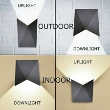 CGC 5W LED Geometric Grey Indoor Outdoor Up Down Wall Light 4000k 550lm IP65