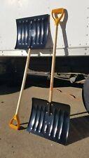 "TRUE TEMPER 1640700 18"" Steel Snow Shovel with 37"" Wood Handle"