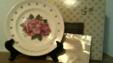 "Vtg Avon 15th Anniversary Plate- ""Avon Roses""-In Box-Free Shipping"