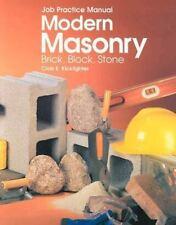 Modern Masonry: Brick, Block, Stone (Job Practice Manual)-ExLibrary