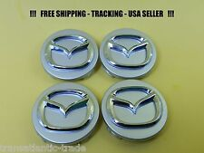 4 x Center Cap For Mazda Silver Chrome 56mm Emblem Wheel Caps 5 6 Miata MPV