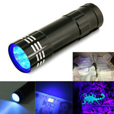 9LED UV Ultra Violet Flashlight Torch Light Lamp Blacklight Invisible Ink Marker