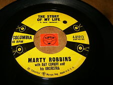 MARTY ROBBINS - THE STORY OF MY LIFE - ONCE A WEEK DATE  / LISTEN / ROCK COUNTRY