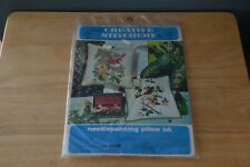New listing Creative Stitchery Crewel Needlepainting Pillow Kit 474B Orioles - New