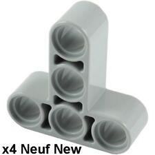 Lego Technic 4 liftarm gris clair / Light Bluish Gray 3x3 T shape Neuf New 60484