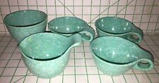 Russel Wright Melmac Melamine Confetti Blue Creamer Sugar Cup Northern Boston 27