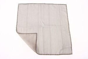 NWT Brunello Cucinelli Men's Soft 100% Silk Pin-Stripe Print Pocket Square  A176