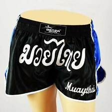 Muay Thai Shorts Boxing Shorts Mma Shorts Muay Thai Trunks Blue Black