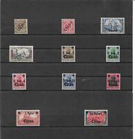 DAP, CHINA, 1898 - 1919, Einzelmarken aus MiNrn: 1 - 47 *, mit Falz, ungebraucht