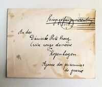Lot of 2 - 1915 & 1919 WW1 Prisoner of War letter Cover & postcard - c-657