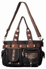 Banned Satchel Style Steampunk Key Handbag