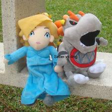 2Pcs Super Mario Bros Princess Rosalina & Baby Dry Bowser Bones Koopa Plush Toy