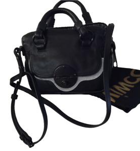 MIMCO PETITE TURNLOCK ZIPTOP HIP CROSSBODY BAG in BLACK LEATHER *now RARE* $299