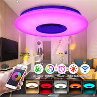 Dimmbar LED Deckenleuchte bluetooth Lautsprecher Musik Deckenlampe APP Steuerung