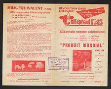"""ISSOUDUN (36) PRODUITS VETERINAIRES pour COCHONS BOVINS """"MILK / MOREAU"""" Emplois"""