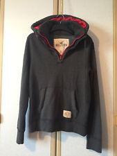 Hollister Mens Grey 1/4 Zip Cotton Blend Hoodie Top Size L VGC