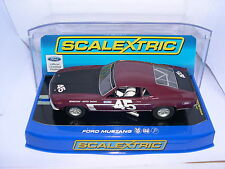 SCALEXTRIC C3424 FORD MUSTANG 1969 BOSS #45  REVENTLOW PETTEY RACING    MB