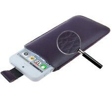 Funda Samsung Galaxy Ace 2 I8160 cuero MORADA PT5 LILA pull-up pouch leather
