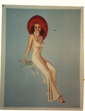 AFFICHE  ANCIENNE PIN UP  FEMME  LITHO USA  THE WEILLER CO PHILADELPHIE