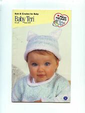 Red Heart  Baby Terri Knit & crochet for a baby knitting patterns booklet