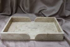Genuine Large Marble Guest Towel Tray Beige/Tan/Peach