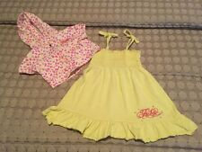 FUBU The Collection Girls Yellow Dress and Jacket Size 4T