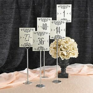 1-40 Ivory Glamour Wedding Table Numbers Flat Number Cards