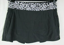 Lululemon Pace Rival Skirt II Stretch Black / Posey Black White Size 10 Tall EUC