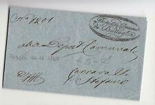 1865 VENETO AUSTRIACO lettera BATTAGLIA-CARRARA SANTO STEFANO-ovale partenz-f237