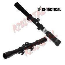 OTTICA JS-TACTICAL 4X20 per FUCILE CARABINA ATTACCHI SLITTA 11mm WEAVER TARATURA
