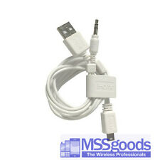 Genuine Ihome 3.5mm & MINI USB Speaker Cable Adapter for ihm60 IHM61 ihm59 White