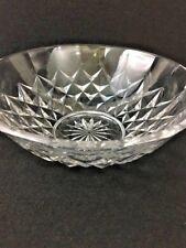 VAL ST LAMBERT Crystal Serving Bowl 10 Inch Diamond Pattern Vintage Signed  MR
