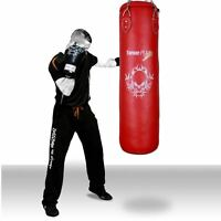 TurnerMAX Filled Punch Bag set Rex Leather Boxing Trainig mitts gloves kick MMA