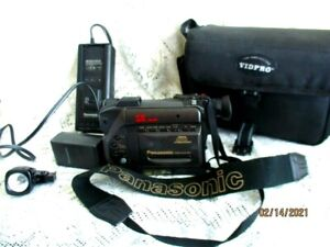 Vintage Panasonic Palmcorder PV-41D w/ charger, flash, & softcase - UNTESTED