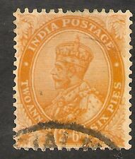 India #100 VF USED - 1926 2sh6p King George V - Brown Orange - SCV $6.00