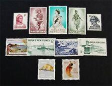 nystamps British Papua New Guinea Stamp # 153-163 Mint Og Nh $38 J15y3210