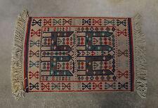 """Vintage ELSA Turkish Kaba Kilim Wool Vegetable Dyed Rug 25"""" x 35"""""""